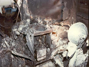 Aft lavatory – believed to have been the point of origin of the fire