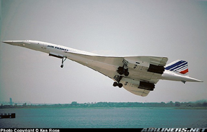Photo of a Concorde operated by Air France