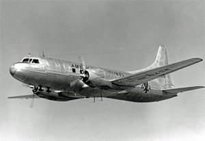 Photo of Convair 240:  Typical two-engine airplane in service when the original 60-minute operational rule was created in 1949