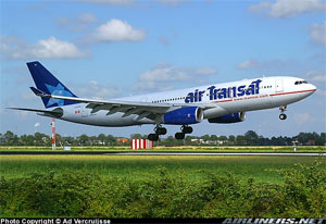 Photo of an Air Transat Airbus 330-243 Aircraft