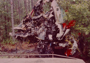 Photo of Atlantic Southeast Flight 2311 wreckage being lifted