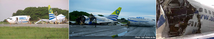 Photos of Aires Flight 8250 after accident