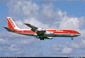 Photo of an Avianca 707