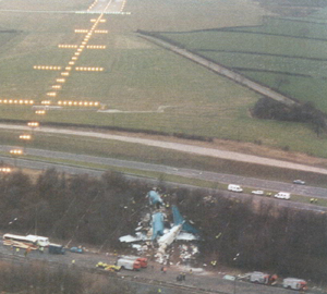 Photo of Crash Site showing Proximity to Runway