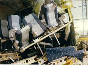 Wreckage photo of cabin tail section