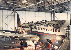 Photo of British Airtours Flight KT28M fuselage