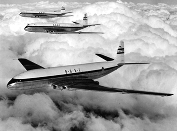 Photo of De Havilland's inaugural Comet