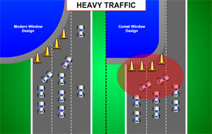 Still image from Comet 1 Traffic Analogy Animation