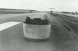 Photo of Engine Inlet on Runway – NTSB Docket Photo