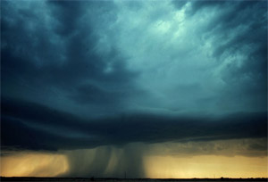 Photo of a microburst
