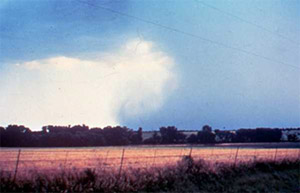 Photo of a microburst with outflow