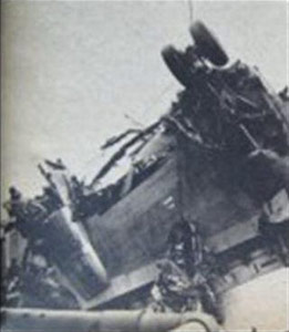 Photo of Eastern Airlines Flight 375 wreckage