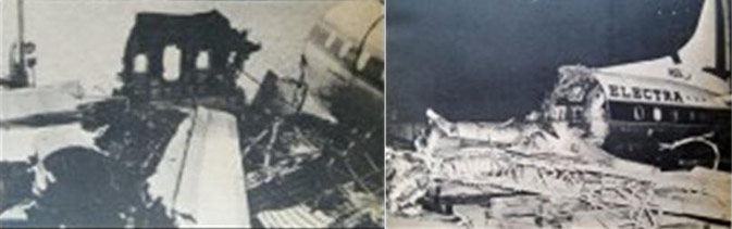 Wreckage photos of Eastern Airlines Flight 375