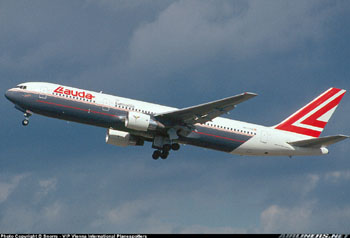 Photo of a Lauda Air Boeing 767-300