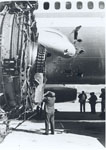 Photo of damage to the aircraft