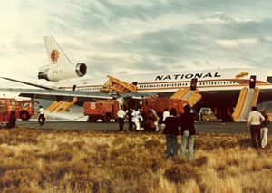 Photo of National DC-10 safe landing after incident
