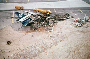 Photo of aircraft wreckage