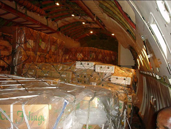 Typical loading for 747 Class B cargo compartment