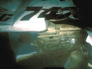 Underwater photos of Flight 295 wreckage