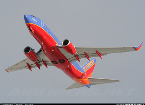 Photo of a Southwest Airlines 737 on Takeoff from Chicago Midway International Airport