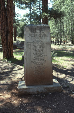 Memorial at Grand Canyon Cemetery for victims of United Airlines Flight 718