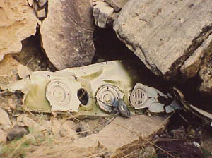 Photo of TWA cabin - wreckage