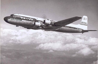 Photo of United DC-7
