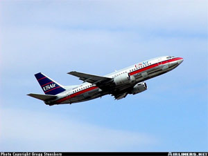 Photo of USAir, Boeing 737 - Photo copyright Gregg Stansbery - Used with permission