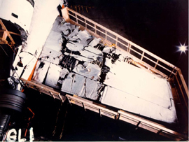 Photo of Right Horizontal Stabilizer Showing Damage