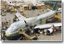 Photo: A Boeing Airplane in a manufacturing process
